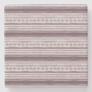 Lilac Ethnic pattern Marble Stone Coaster