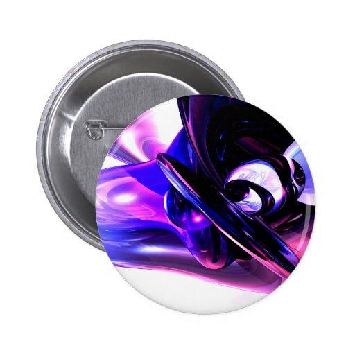 Lilac Fantasy Abstract Button