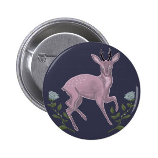 Lilac Fawn 6 Cm Round Badge