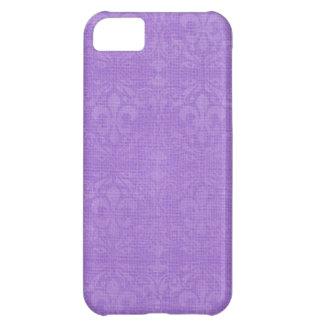 Lilac Fleur De Lis Damask Case For iPhone 5C