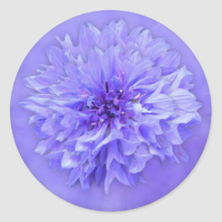 Lilac Floral Envelope Seal Round Sticker