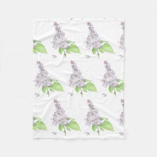 Lilac Floral Sketch Throw Blanket