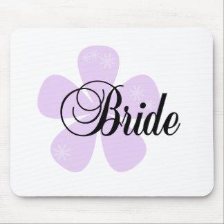 Lilac Flower Bride Mouse Pad