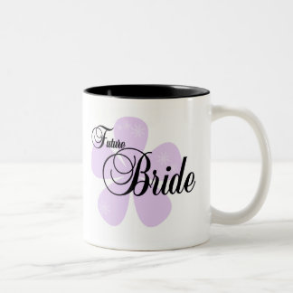Lilac Flower Future Bride Mugs