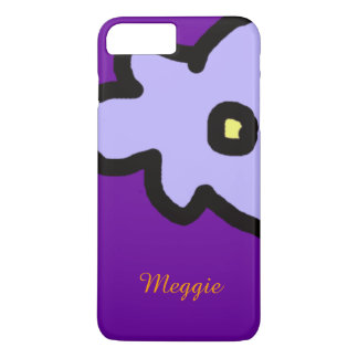 lilac flower with custom name iPhone 7 plus case