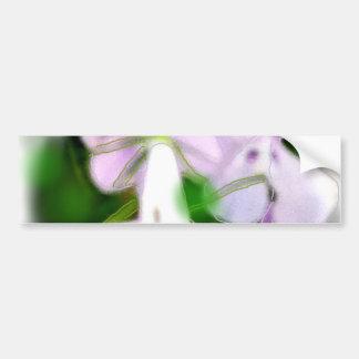 Lilac Flowers - Card Bumper Sticker