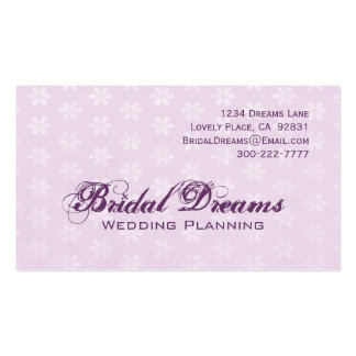 Lilac Flowers Customizable Business Card