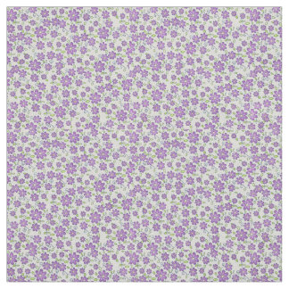 Lilac flowers fabric