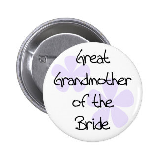 Lilac Flowers Great Grandmother of Bride 6 Cm Round Badge