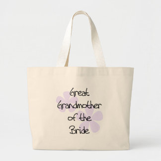 Lilac Flowers Great Grandmother of Bride Large Tote Bag