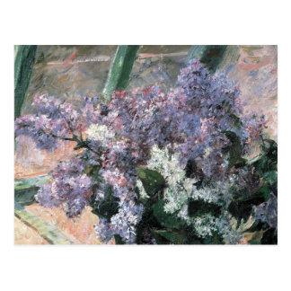 Lilac Flowers in a Window Fine Art Postcard