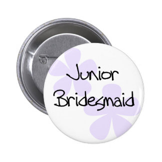 Lilac Flowers Jr. Bridesmaid 6 Cm Round Badge