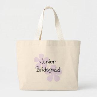 Lilac Flowers Jr. Bridesmaid Canvas Bag