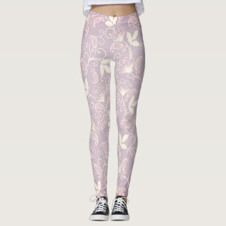 Lilac flowers leggings