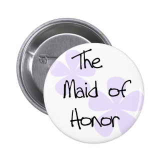 Lilac Flowers Maid of Honor 6 Cm Round Badge