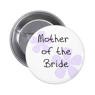Lilac Flowers Mother of Bride 6 Cm Round Badge