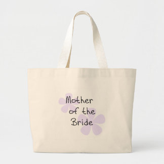 Lilac Flowers Mother of Bride Large Tote Bag