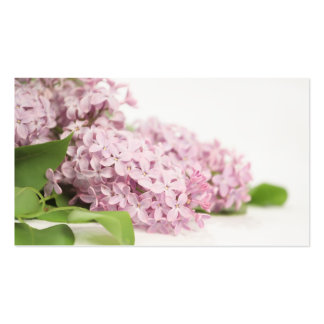 Lilac Flowers on White Pack Of Standard Business Cards