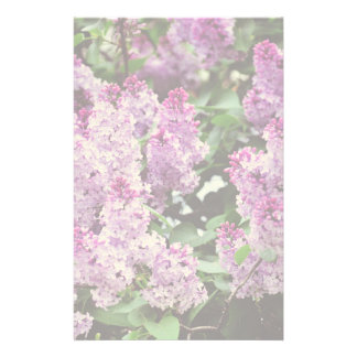 Lilac flowers stationery design