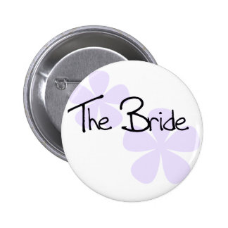 Lilac Flowers The Bride 6 Cm Round Badge
