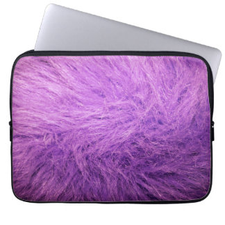 Lilac Fur Laptop Sleeve