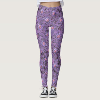 Lilac Garden Leggings