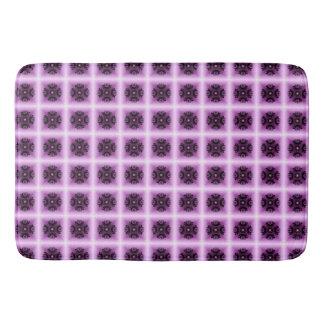 Lilac Geometric Crop Circle Bath Mat