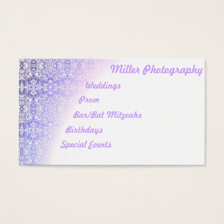 Lilac Gradient Business Card