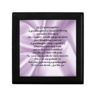 lilac   Granddaughter Poem Gift Box
