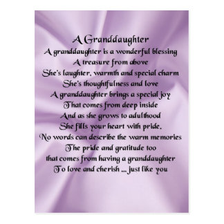 lilac   Granddaughter Poem Postcard