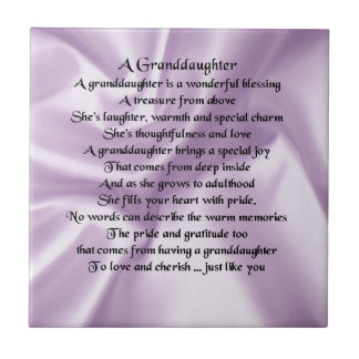 lilac   Granddaughter Poem Tile
