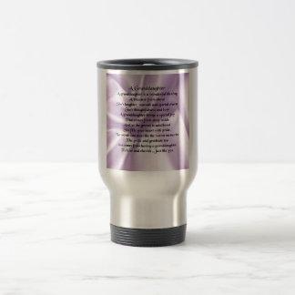 lilac   Granddaughter Poem Travel Mug