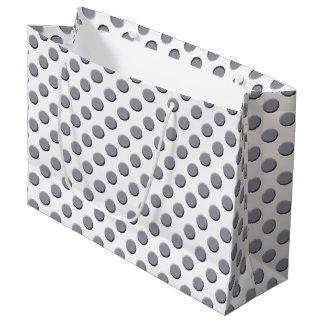 Lilac Grey Polka Dot Pattern Large Gift Bag