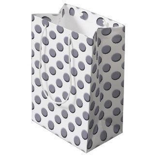 Lilac Grey Polka Dot Pattern Medium Gift Bag