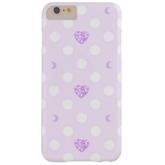 Lilac Heart Crystals and Polka Dots Barely There iPhone 6 Plus Case