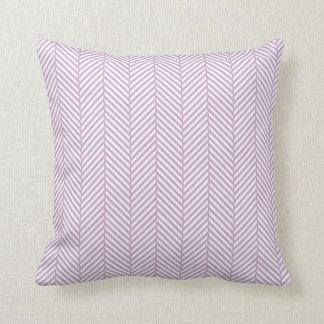 Lilac Herringbone Throw Pillow