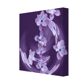 Lilac in circle canvas print