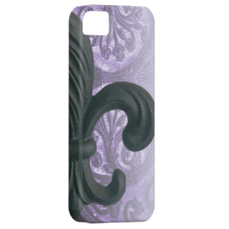 """lilac"" iron fleur de lis iPhone 5 covers"