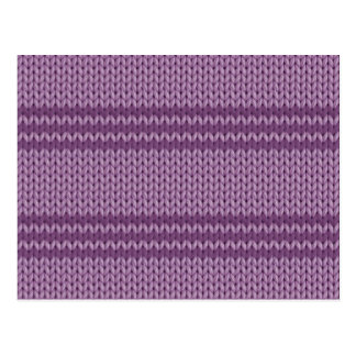 Lilac Knit Postcard