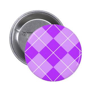 Lilac Lavender Argyle 6 Cm Round Badge