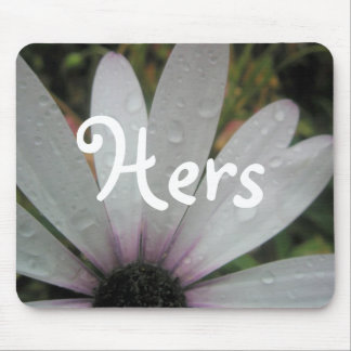 Lilac Lights wedding daisy Mouse Pad