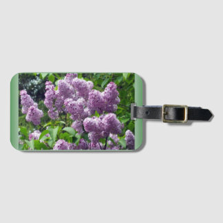 Lilac Luggage Tag