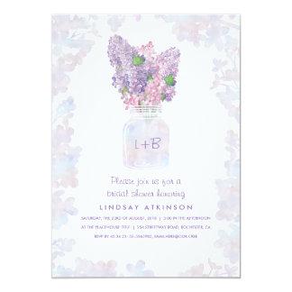Lilac Mason Jar | Watercolor Floral Bridal Shower Card