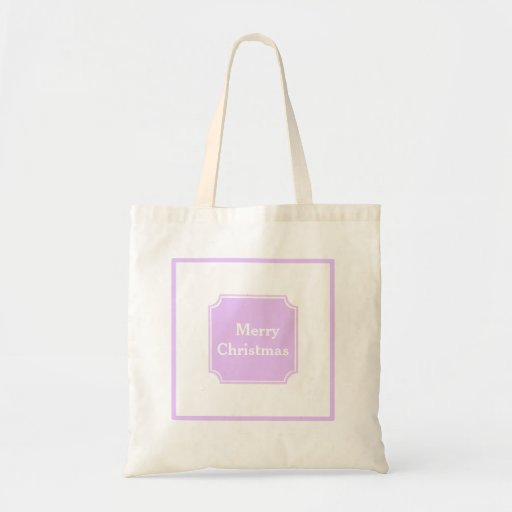 Lilac Merry Christmas Holiday Shopping Tote Bag