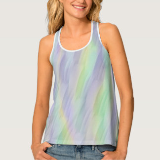 Lilac Mint Yellow Abstract Singlet