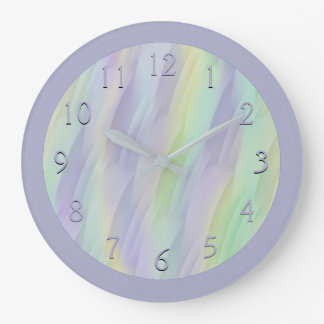 Lilac Mint Yellow Large Clock