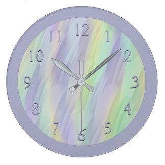 Lilac Mint Yellow Large Clock