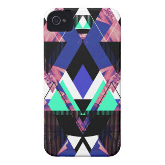 Lilac Mod Geometric iPhone 4 Case-Mate Cases