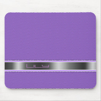 Lilac Named Waves Mouse Pad