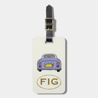 Lilac Nissan Figaro Custom Luggage Tag